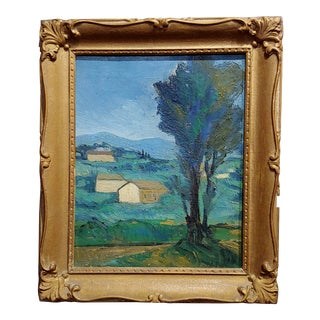 Italian Country Side - 1920s Oil Painting For Sale