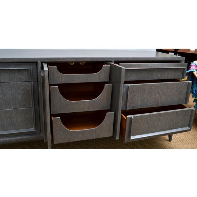 Mid-Century Modern Century Furniture of Distinction Gray Finish Credenza For Sale - Image 3 of 7