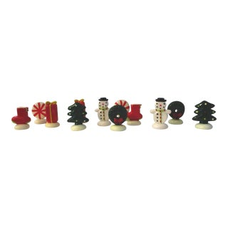 Christmas Time Placecard Holders, S/12 For Sale