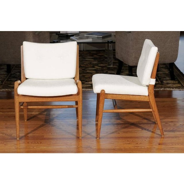 Chic Restored Set of Eight Cerused Mahogany Dining Chairs by John Keal For Sale In Atlanta - Image 6 of 11
