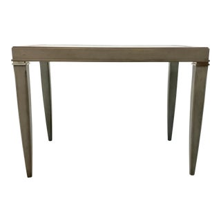 Transitional Hickory Chair Gray Hutton End Table For Sale