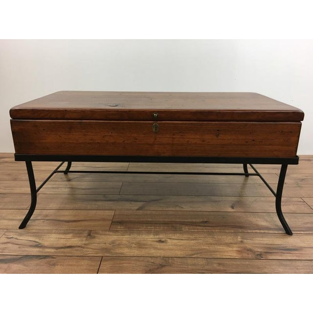 Contemporary Wood Trunk Top Coffee Table - Image 2 of 6