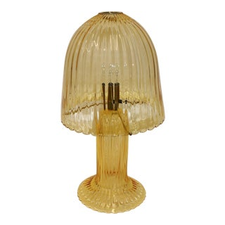Rare Mid-Century Modern Murano Glass Table Lamp For Sale