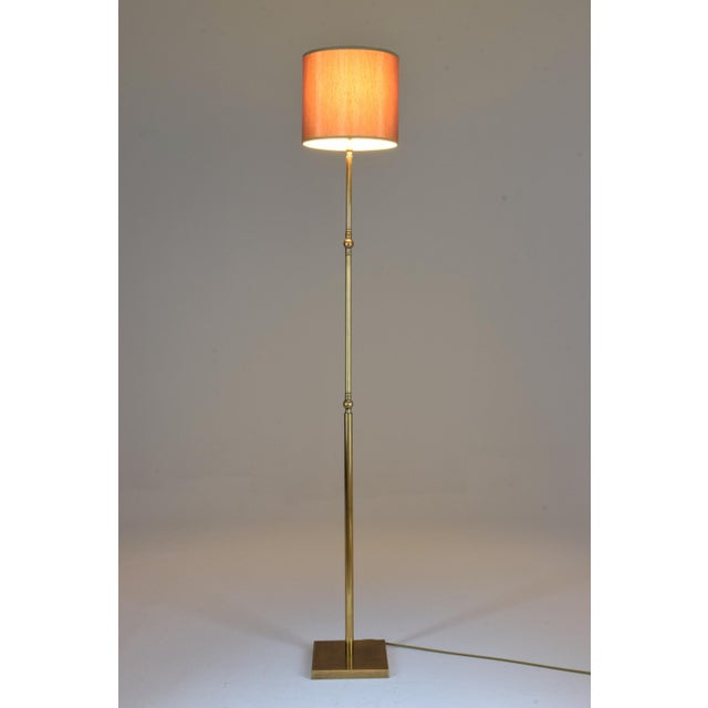 20th Century French Brass Floor Lamp, 1960's For Sale - Image 10 of 12