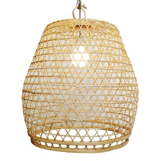 Flat Top Fish Basket Lantern Large For Sale