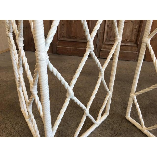 Vintage Mid-Century Faux Rope Twist Patio Set - 5 Pieces For Sale - Image 12 of 13