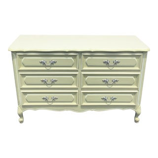 Vintage French Provincial Double Dresser Chest of Drawers For Sale