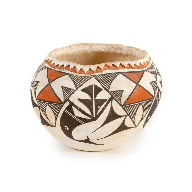 Southwestern Acoma Olla Polychrome Pottery For Sale - Image 11 of 11