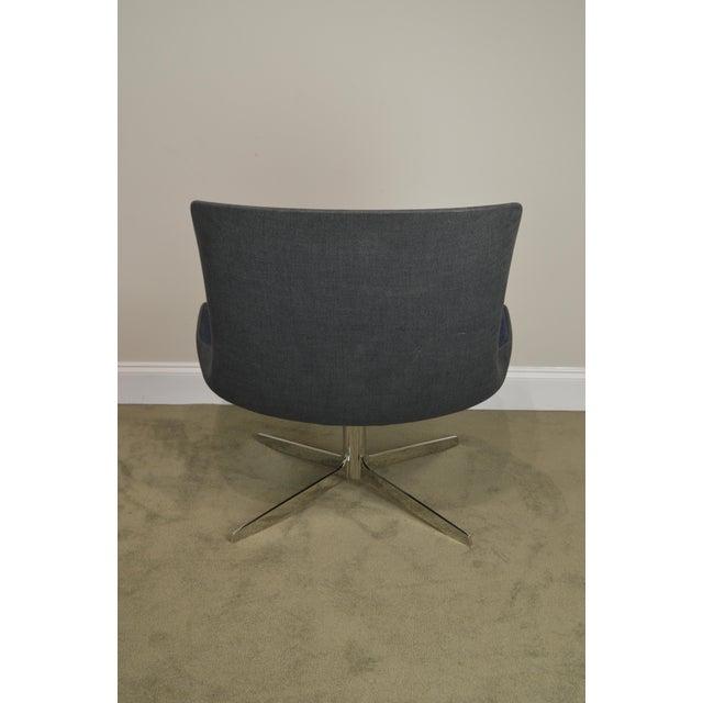 Chrome Monica Forster for Bernhardt Pair of Chrome Base Swivel Vika Lounge Chairs For Sale - Image 7 of 13