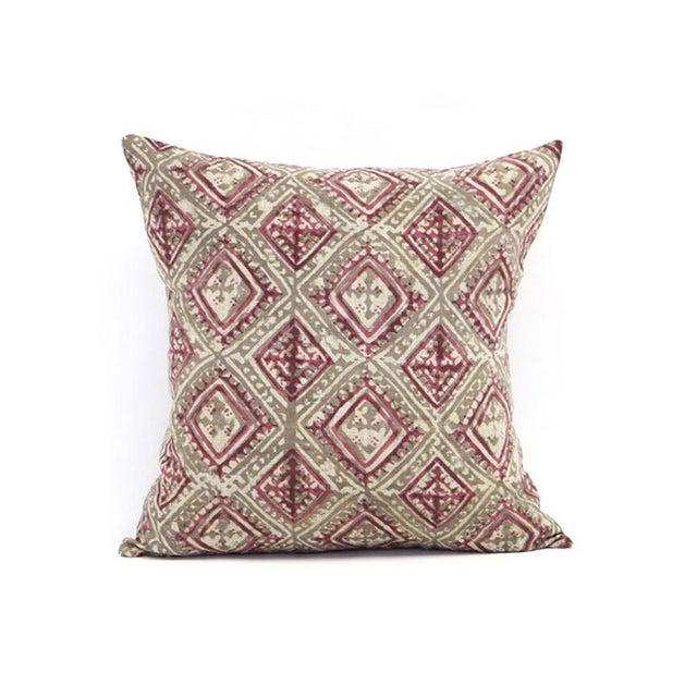 Block Printed Havana Pink Kashish Pillow - Image 2 of 3
