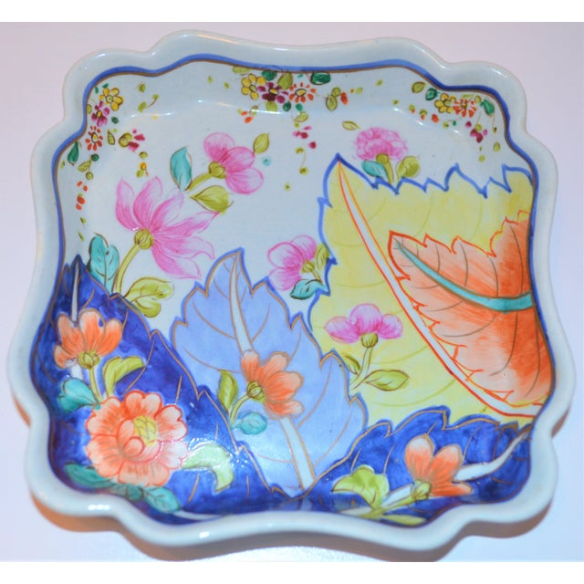 Asian 1970s Chinoiserie Tobacco Leaf Trinket Tray For Sale - Image 3 of 6