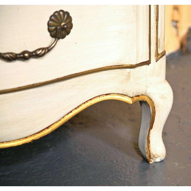 Wood French Louis XV Style Commode Stamped Jansen For Sale - Image 7 of 9
