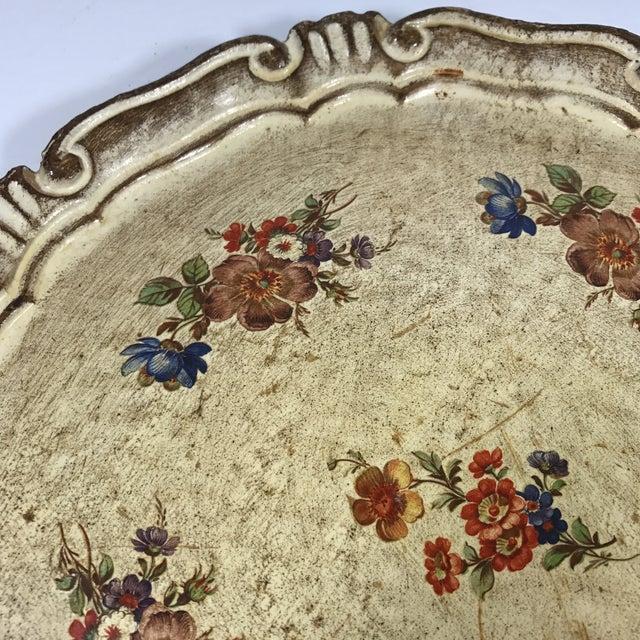 Vintage Italian Venetian Floral Tray - Image 5 of 9