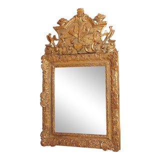 Louis XVI Epoch Gilt Wood Mirror For Sale