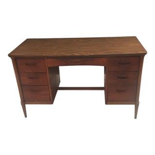 Mid Century Modern Lane Altavista Walnut Kneehole Desk