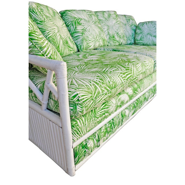 Ficks Reed Vintage Palm Leaf Sofa - Image 4 of 5