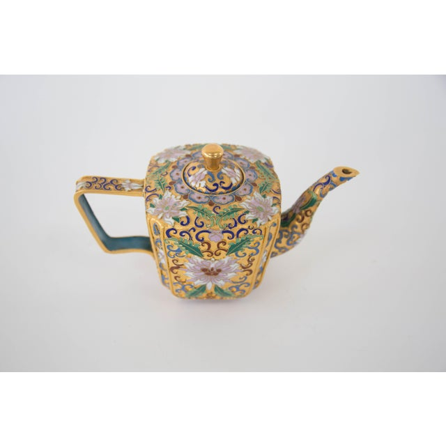 Chinese Champleve Enamel Teapot - Image 6 of 6