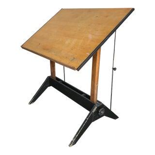 1940s Art Deco Mayline Company Wood Drafting Table