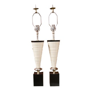 Mid-Century Tornado Form Table Lamps By Rembrant - a Pair For Sale