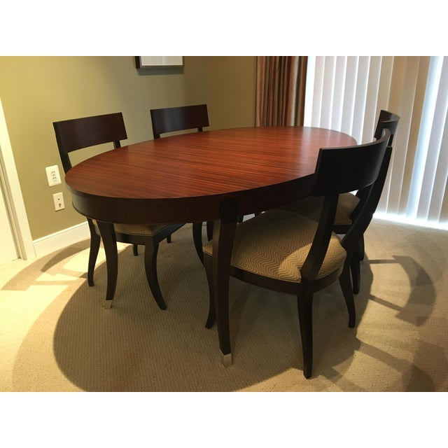 Ethan Allen Hathaway Oval Dining Table & Chairs