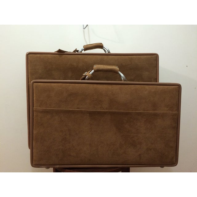 Vintage Hartmann Suede Luggage Set - Image 3 of 11