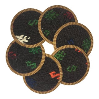 Rug & Relic Kilim Coasters Set of 6 | Beyza For Sale