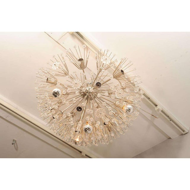 Glass Ceiling Hanging Austrian Chandelier For Sale - Image 7 of 7