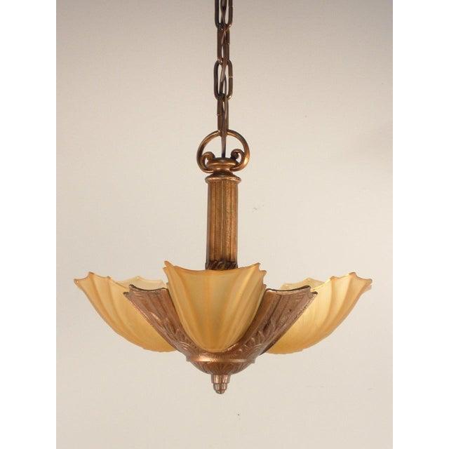 Art Deco Pendant Fixture (3-Light) - Image 2 of 6