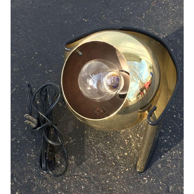"Mid-Century Brass ""Eyeball"" Spotlight Lamp - Image 3 of 7"