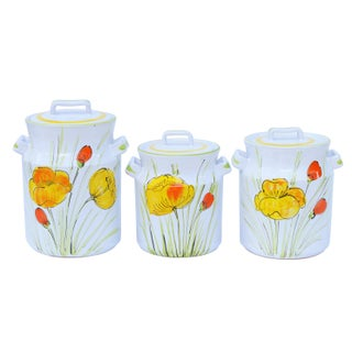 Floral Ceramic Kitchen Jars - Set of 3 Preview
