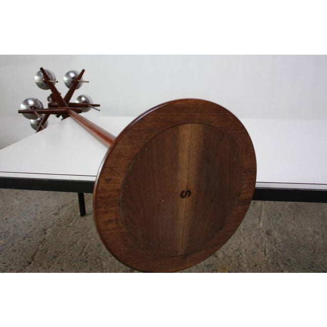 Mid-Century Modern 1960s James Martin Carved Walnut Floor Candelabrum For Sale - Image 3 of 11