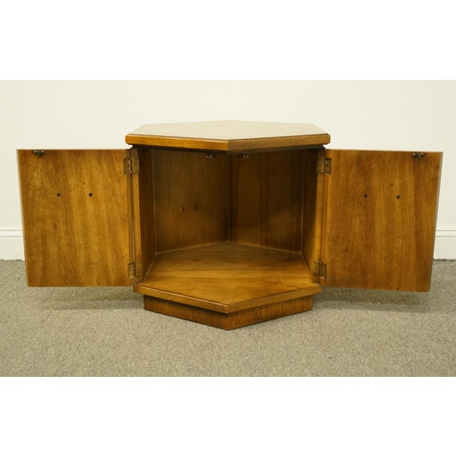 Late 20th Century 20th Century Campaign Drexel Heritage Accolade II Collection Hexagonal Storage Cabinet For Sale - Image 5 of 11