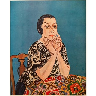 """1954 Raoul Dufy """"Portrait of Madame Dufy"""" First Edition Lithograph For Sale"""
