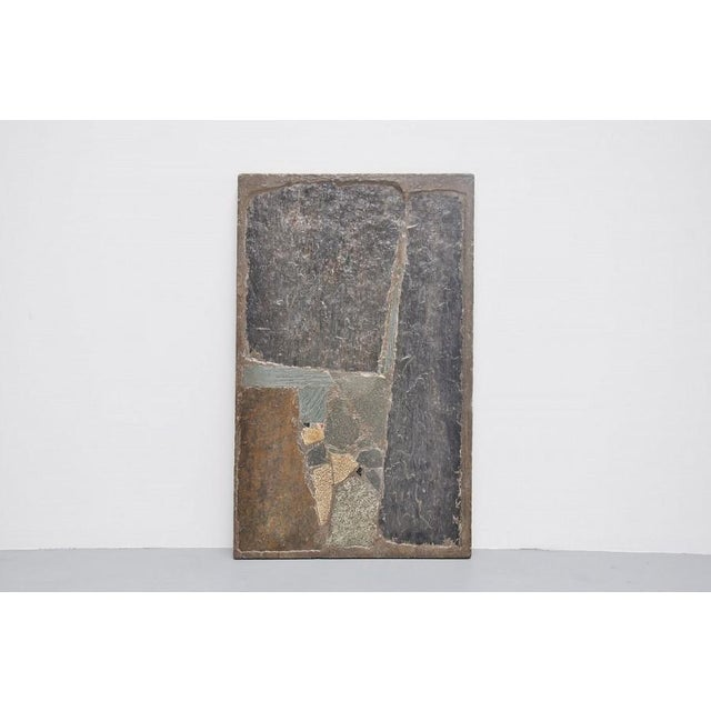 Paul Kingma rectangular coffee table in stone and concrete 1963 - Image 5 of 7