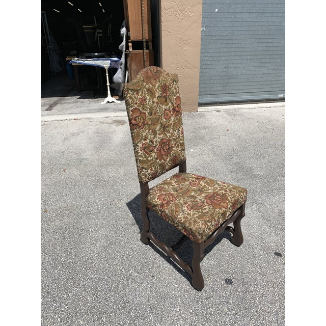 Wood 1900s Vintage French Louis XIII Style Os De Mouton Dining Chair For Sale - Image 7 of 13
