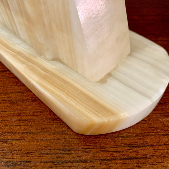 Vintage Art Deco-Style Alabaster Horse Bookends - a Pair For Sale - Image 11 of 13