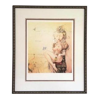 "Surrealist Daniel Merriam ""Softly Spoken"" Limited Addition Giclée Print For Sale"