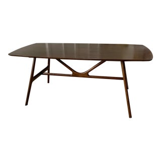 Danish Style Mid-Century Design Wood Dining Table For Sale