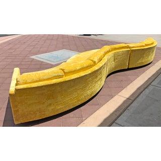 Rare Monumental Adrian Pearsall Serpentine Sofa Preview