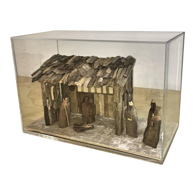 Customizable Nativity Scene in Driftwood and Lucite Object D'Art by AMK for Patricia Kagan - Image 1 of 7