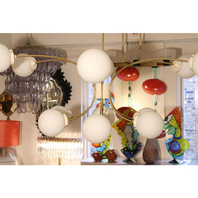 Italian Design 12 Palle Chandelier For Sale - Image 4 of 6