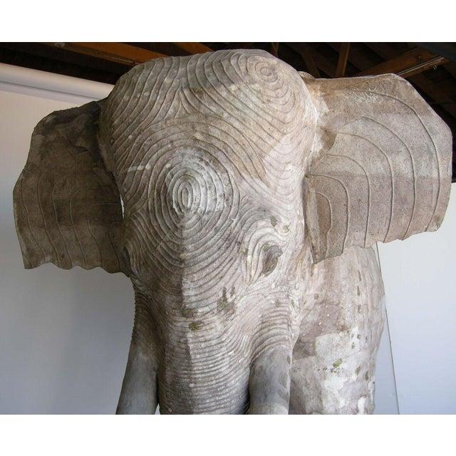 Life Size Papier Mache Elephant For Sale - Image 9 of 9
