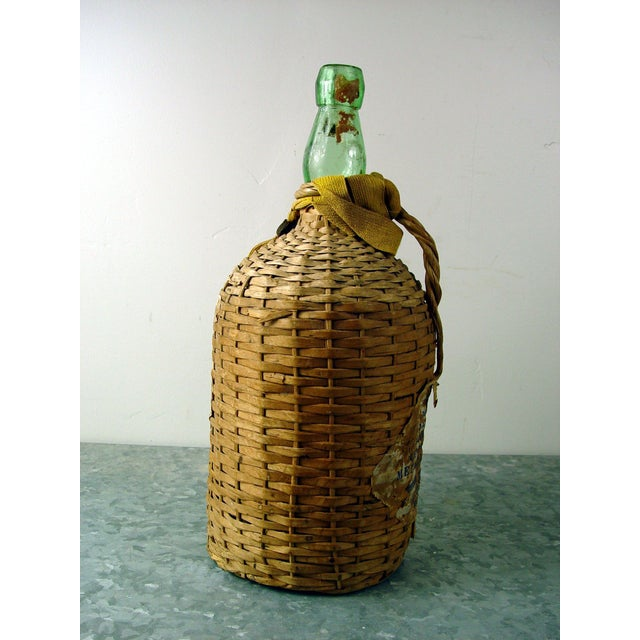 Vintage Bacardi Rum Wicker Covered Bottle - Image 5 of 5