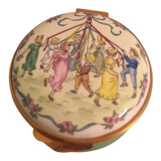 "1980s Crummles ""May Pole"" Enamel Box For Sale"