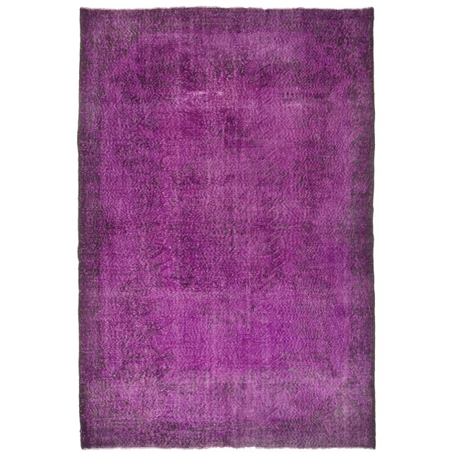 Turkish Vintage Over-Dyed Rug - 6′11″ × 10′4″ - Image 1 of 4