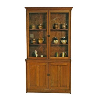 Arts & Crafts Edwardian Oak Cabinet For Sale