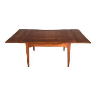 """Cushman Colonial Creations Solid Maple 72"""" Extension Dining Table For Sale"""