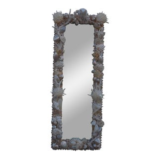 Custom White Seashell and Coral Mirror
