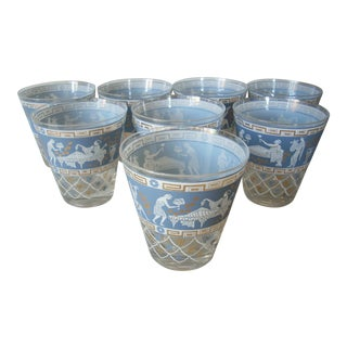 Jeanette Greek Old Fashion Glasses - Set of 8 For Sale