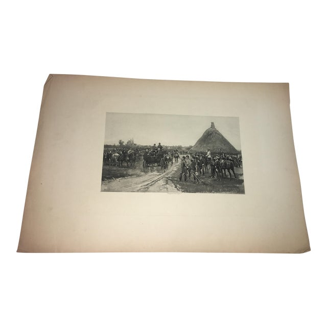 1881 Edouard Detaille Military Scene Lithograph For Sale
